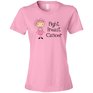 fight breast cancer womens tshirt